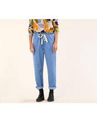 Harris Wilson Pantalon large taille haute LONI - Bleu