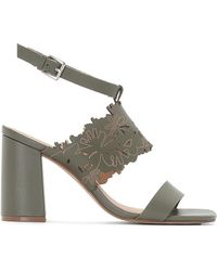 La Redoute - Leather Sandals With Laser Cut Strap - Lyst