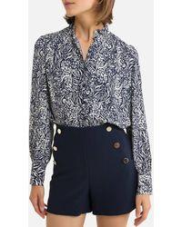 See U Soon Camisa con estampado de flores - Azul