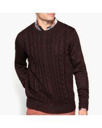 La Redoute - Chunky Knit Crew Neck Jumper/sweater - Lyst