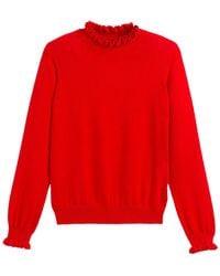 La Redoute Jersey de cuello alto - Rojo