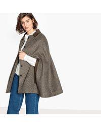 La Redoute Capa a cuadros de lana mezclada - Marrón