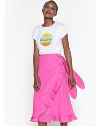 La Redoute - Cotton Ruffled Wrapover Skirt - Lyst