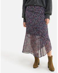IKKS Falda larga con estampado floral - Multicolor