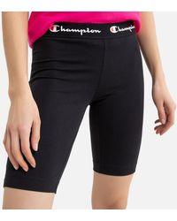 Champion Short ciclista, logo en la cintura - Negro