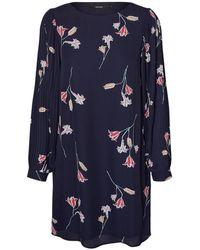 Vero Moda - Short Straight Dress With Long Sleeves - Lyst