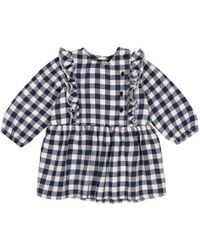 La Redoute - Gingham Dress With Ruffles, 1 Month-3 Years - Lyst