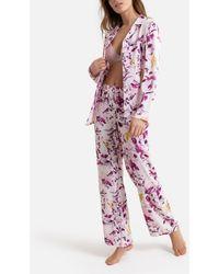 La Redoute Pijama con estampado de flores de crepé - Rosa
