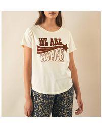Leon & Harper Tee shirt col rond manches courtes TORO - Neutre