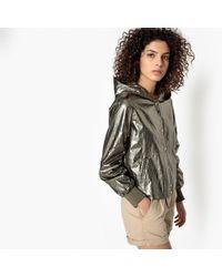 See U Soon - Metallic Hooded Jacket - Lyst