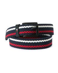 Tommy Hilfiger Cinturón Denton Stripes 3.5 - Azul