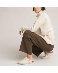 La Redoute Pantalon large en tricot - Multicolore