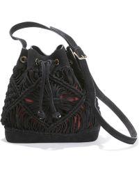 La Redoute - Plaited Suede Bucket Bag - Lyst