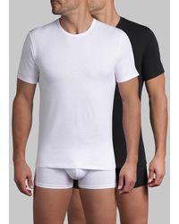 DIM Lote de 2 camisetas X-TEMP con cuello redondo - Blanco