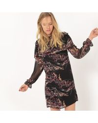 La Redoute - Frilled Dress In Printed Dotted Voile - Lyst