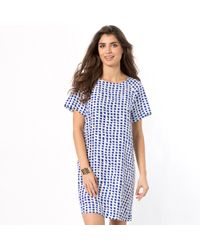 Bensimon - Short-sleeved Pure Silk Dress - Lyst