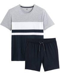 La Redoute Pijama con short de algodón orgánico - Azul