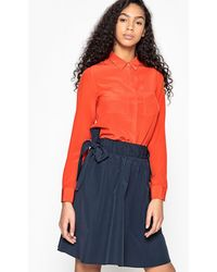 La Redoute - Silk Shirt With Breast Pockets - Lyst