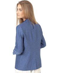 Noa Noa - Tailored Linen/cotton Blend Jacket - Lyst