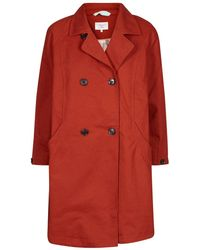 Numph - Double-breasted Trench Coat - Lyst