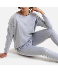 La Redoute - Pijama de manga larga de felpa light - Lyst