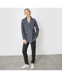 La Redoute - Marl Wool Mix Coat - Lyst