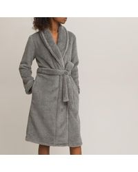 La Redoute Robe de chambre en maille polaire - Gris