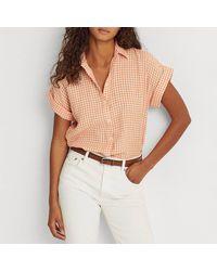 Lauren by Ralph Lauren Chemise à carreaux en lin, sans manches - Multicolore