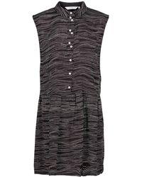 Numph - Sleeveless Printed Shirt Dress - Lyst