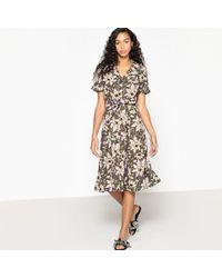 La Redoute - Floral Print Skater Dress - Lyst