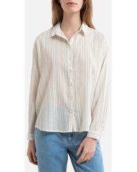 Harris Wilson Camisa irisada a rayas de manga larga DABY - Neutro