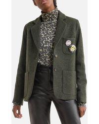 Leon & Harper Blazer droit en pure laine VILLY - Multicolore