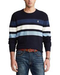 Polo Ralph Lauren Jersey a rayas, cuello redondo - Azul