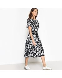 La Redoute - Floral Print Dress With Cord Tie - Lyst