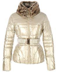 Rene' Derhy - Short Padded Coat With Belt - Lyst