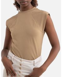 ONLY Top col montant sans manches - Multicolore