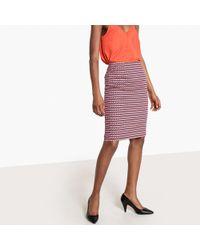 La Redoute - Falda de tubo con estampado geométrico - Lyst