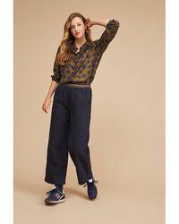 Harris Wilson Pantalon large taille haute - Bleu