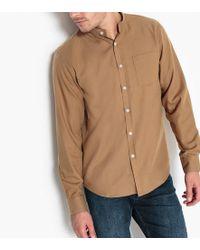 La Redoute - Mandarin Collar Shirt - Lyst