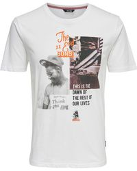 Only & Sons - Short-sleeved Crew Neck T-shirt - Lyst