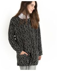 Numph - Ida Lightweight Soft Two-tone Knit Coat - Lyst