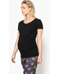 La Redoute - Maternity T-shirt With Pleated Waist Detail - Lyst
