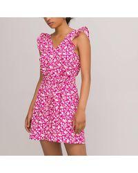 La Redoute Combi short sans manches imprimé floral - Rose
