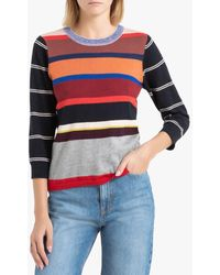 Bellerose Jersey con cuello redondo de punto a rayas multicolor GOPS