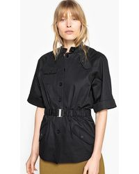 La Redoute - Short-sleeved Straight Cut Utility Jacket - Lyst