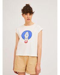 Compañía Fantástica Camiseta, cuello redondo, motivo estampado - Blanco