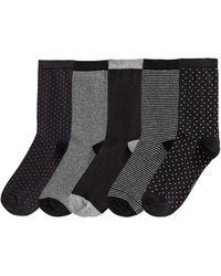 La Redoute Lot de 5 paires de mi-chaussettes - Noir