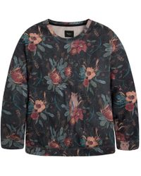 Pepe Jeans - Floral Print Crew Neck Sweatshirt - Lyst