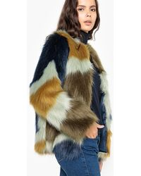 La Redoute Abrigo corto con cierre con broche y estampado gráfico - Multicolor