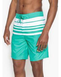 La Redoute Bañador short, boardshort, a rayas grandes - Verde